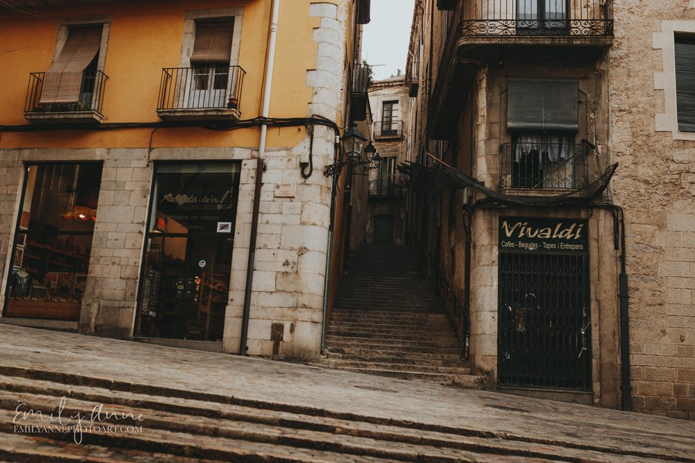 hidden streets of girona Spain by Nashville Barcelona Girona Destination Photographer