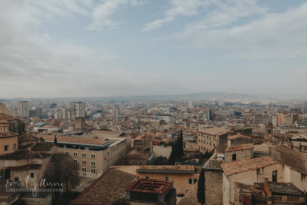 best view of girona Spain by Barcelona and European photographer Emily Anne fotografa weddings and portraits in Girona Spain