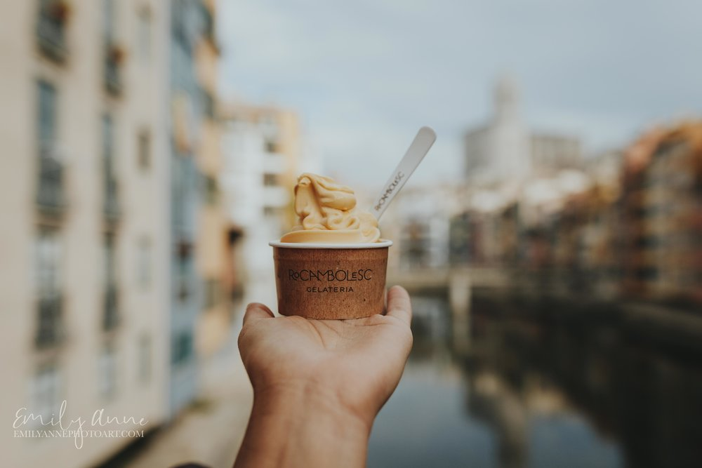 best ice cream restaurant and gelato shot by top destination food travel blogger/wedding portrait photographer Emily Anne photo art