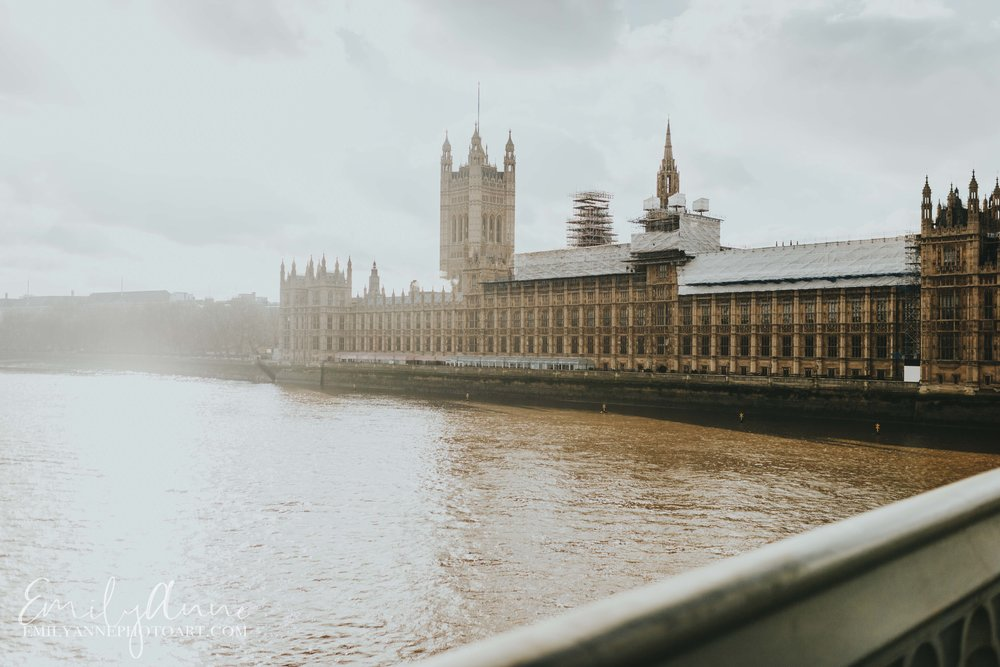 Westminister Abbey on the water top things to see by UK Barcelona Nashville Wedding Portrait Photographer Emily Anne