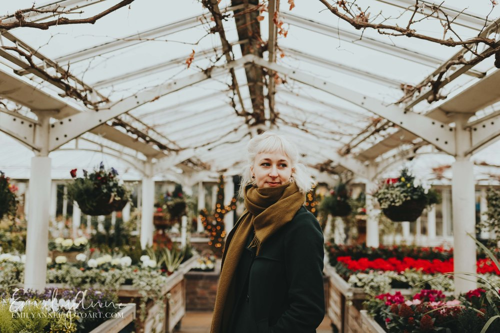 exotic portraits in Clifton nurseries London UK by Portrait Wedding Photographer Emily Anne Photo Art