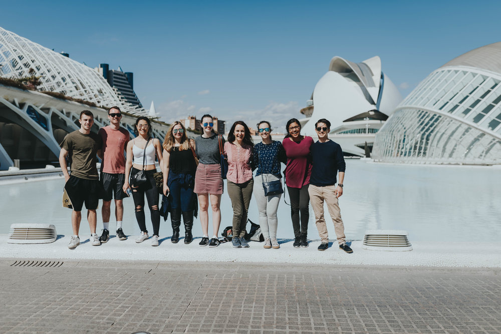 best of CIEE Barcelona travel weekend trip Valencia Spain; valencia group tour fun weekend