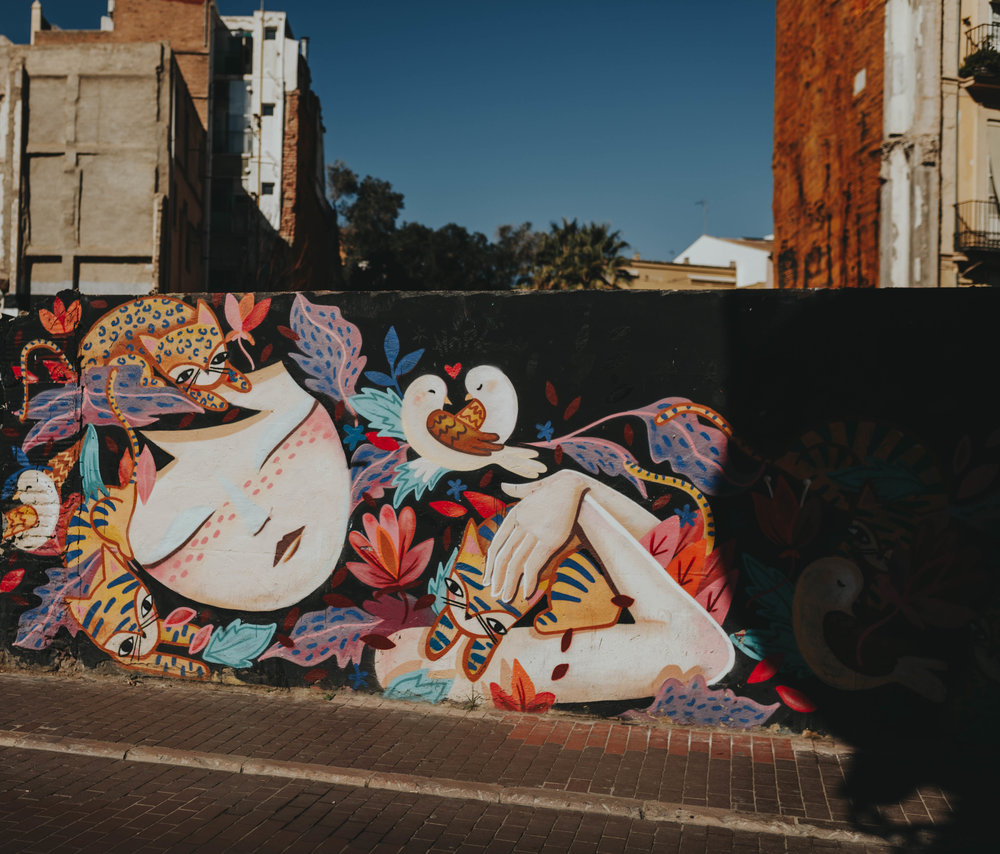 gorgeous graffiti artist work on art tour graffiti valencia Spain by day trip from Barcelona Nashville Based Photographer