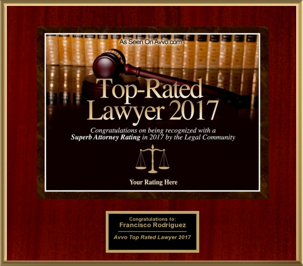 TOP RATED LAWYER: 2011, 2012, 2013, 2014, 2015, 2016, & again in 2017! - Not easy to be rated in the top 10 in California for the past ten years in a row!