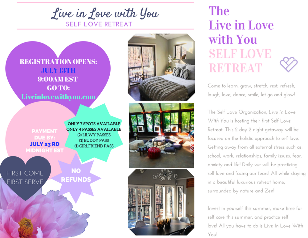LILWY SELF LOVE RETREAT INFORMATION