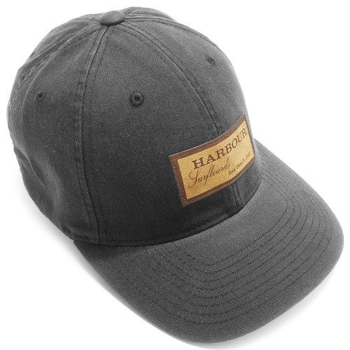 379012067 Suede patch washed flexfit cap - black