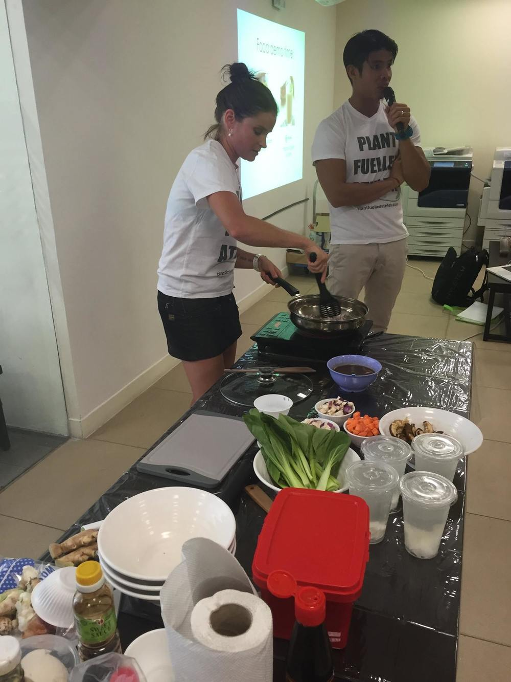Cooking workshop at James Cook University