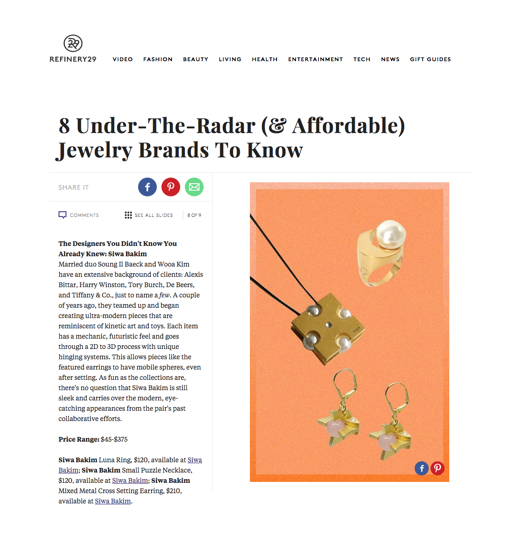 http://www.refinery29.com/new-jewelry-brands-by-budget#slide-8 Small Puzzle necklace Luna ring Sartorial cross setting earring - rose quartz