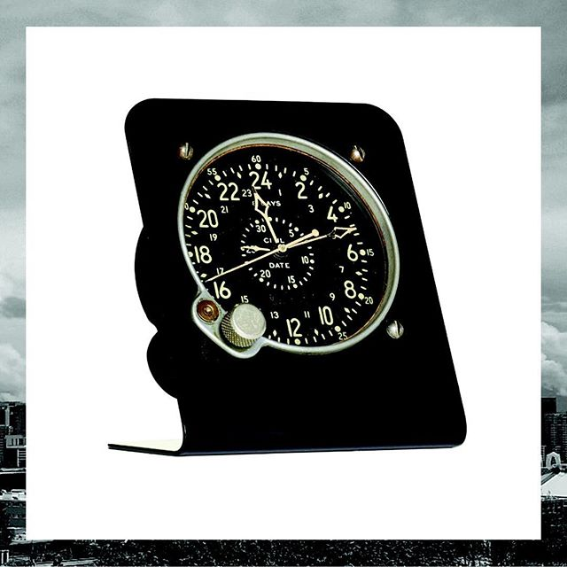FOOTHILLS CA Waltham Pilot's clock on custom made metal base available at #nordstompop #waltham #pilotslife