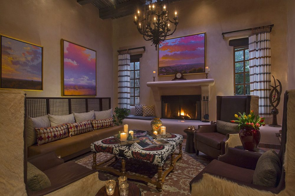 Gather in the lobby lounge at La Posada de Santa Fe