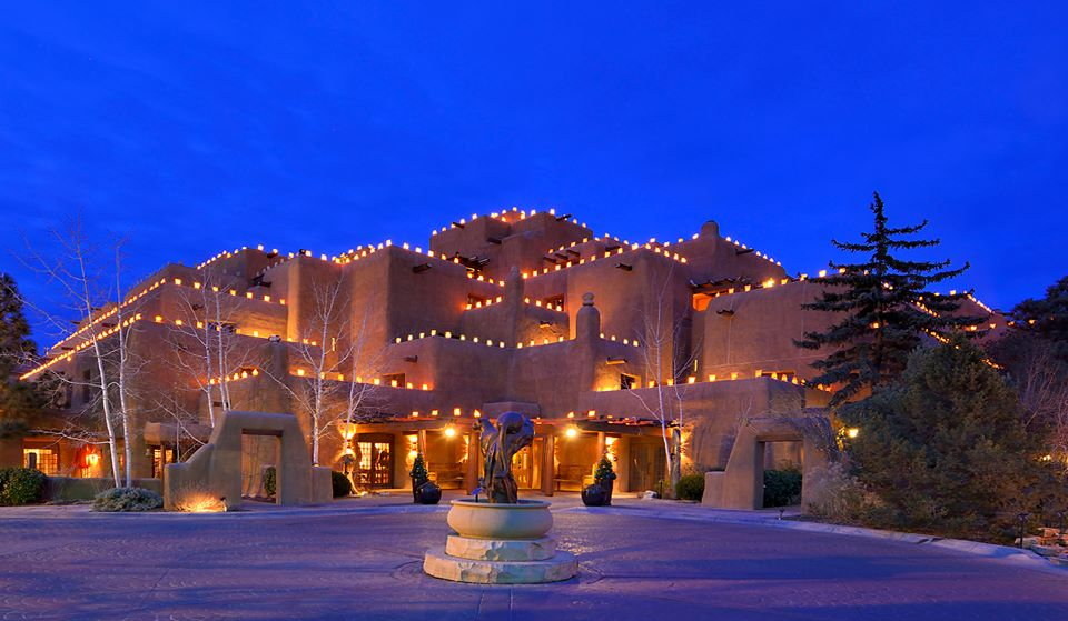 Luminarias line the Inn and Spa at Loretto