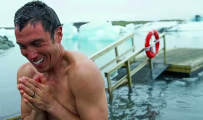 Chris Burkard experiencing a moment of joy while freezing.