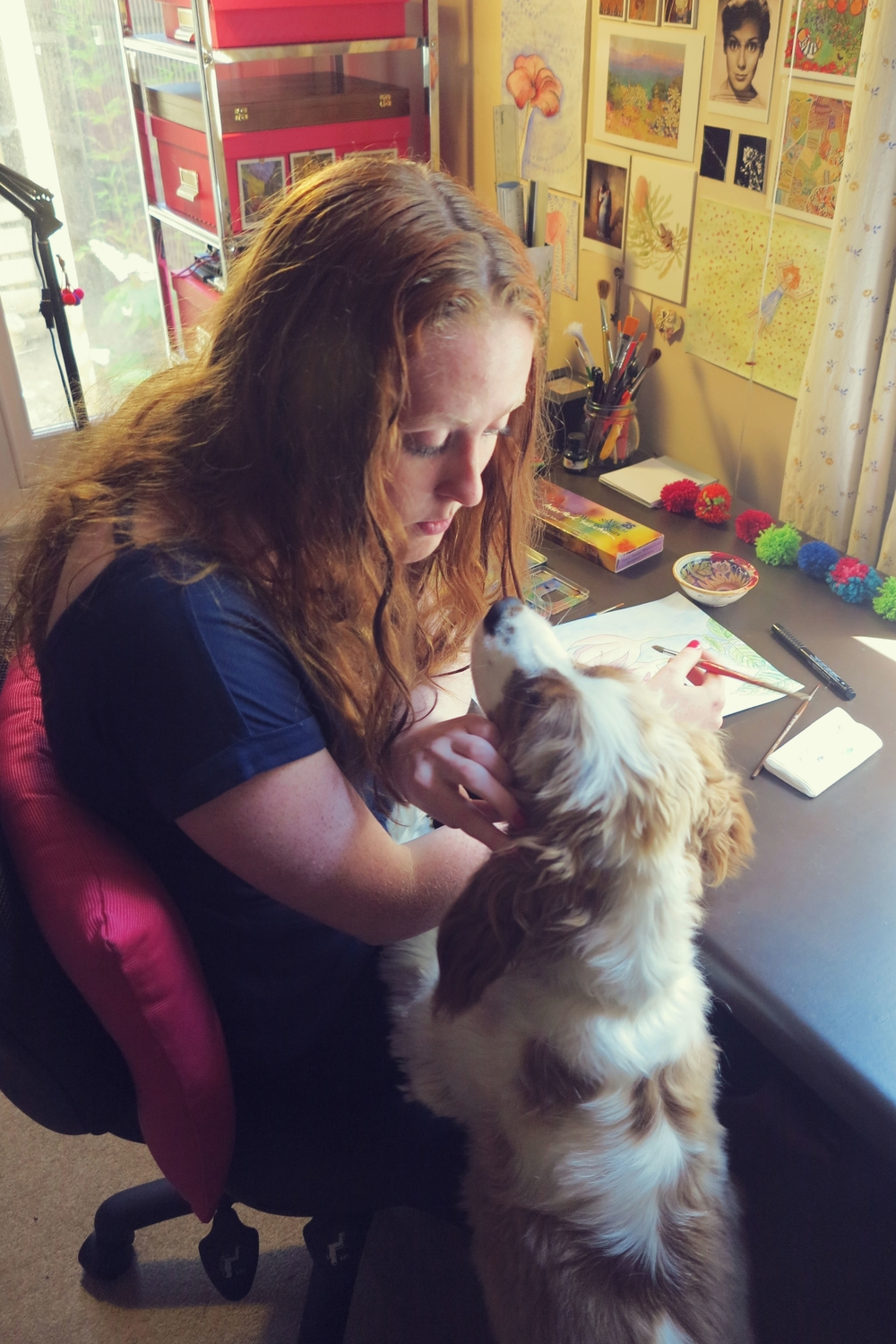 Michelle with her dog, Lochie.