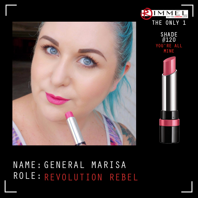 Marisa Robinson Makeup Artist Rimmel London The Only 1 Lipstick