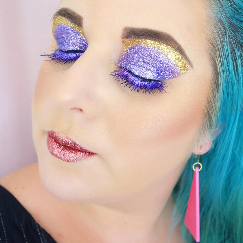Marisa Robinson Makeup Artist Mardi Gras Glitter Glam