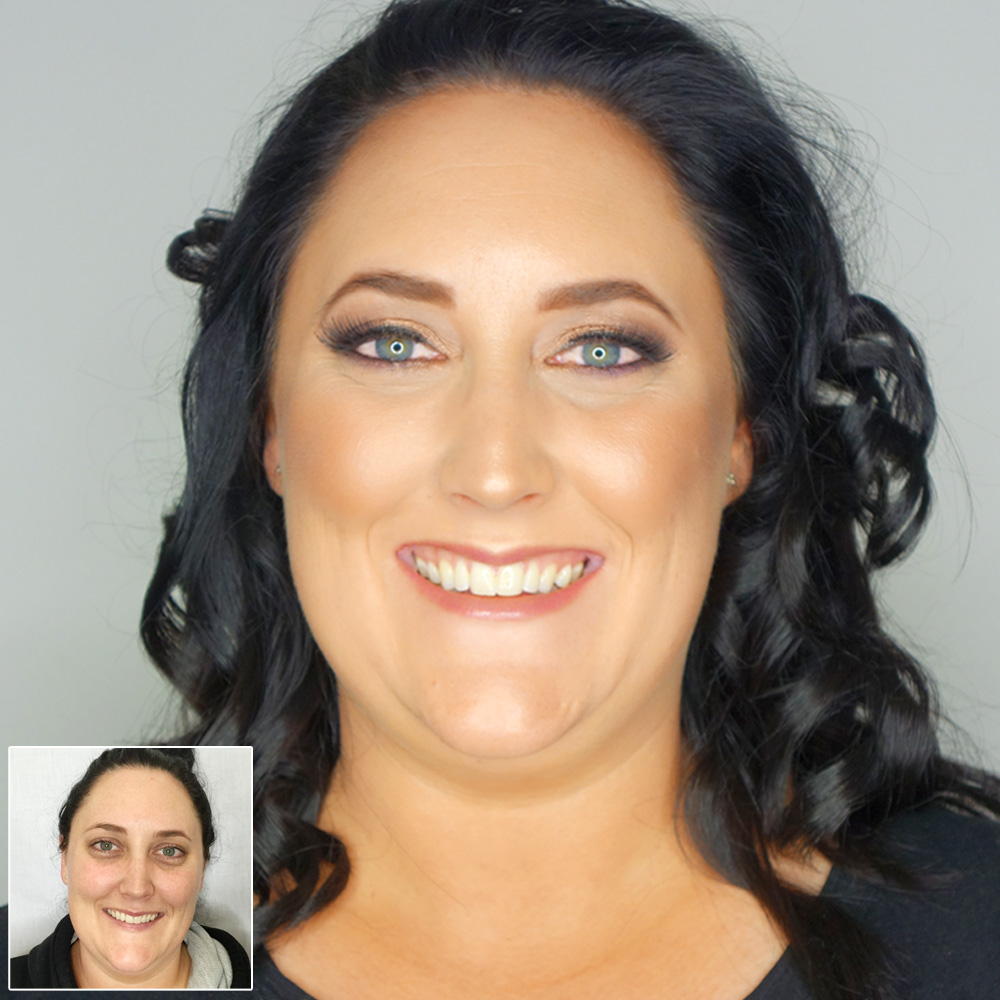 Marisa Robinson Makeup Artist Before and After Star Ball Glam