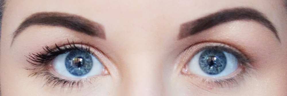 Left Eye: Too Faced Better Than Sex Mascara / Right Eye: Nothing