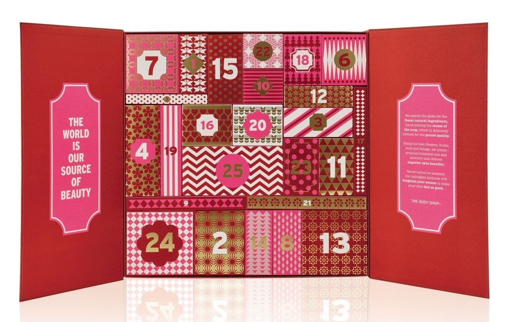 Marisa Robinson Makeup Artist 2016 Holiday Gift Guide The Body Shop Advent Calendar