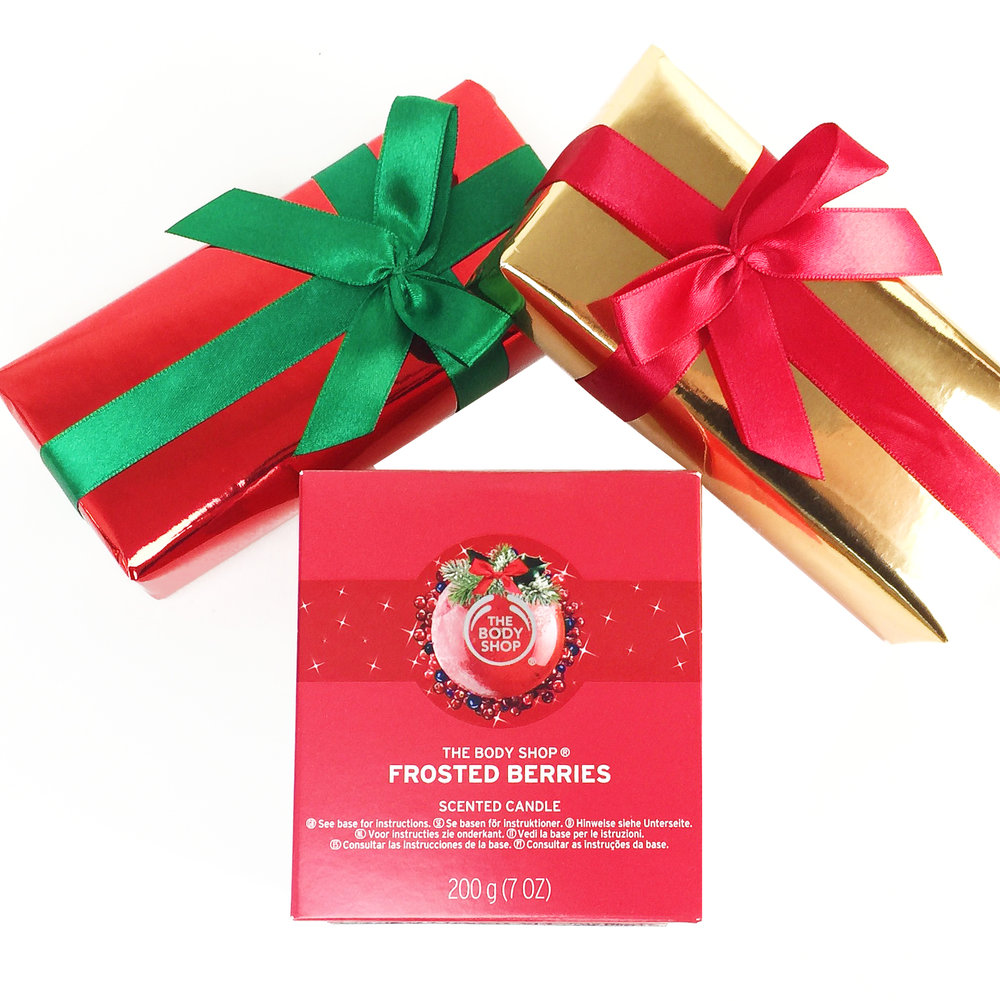 Marisa Robinson Makeup Artist 2016 Holiday Gift Guide The Body Shop Frosted Berries Scented Candle
