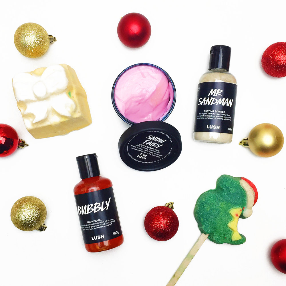 Marisa Robinson Makeup Artist 2016 Holiday Gift Guide Philosophy Snow Angel Set LUSH Christmas Collection