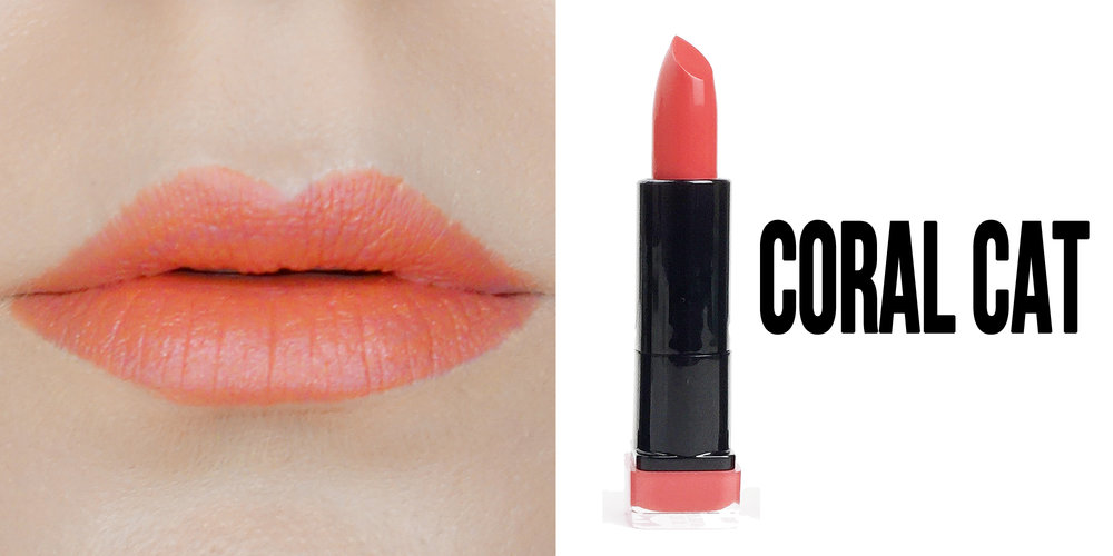 Marisa Robinson Beauty Blogger Katy Perry Covergirl Katy Kat Matte Lipstick Collection Coral Cat