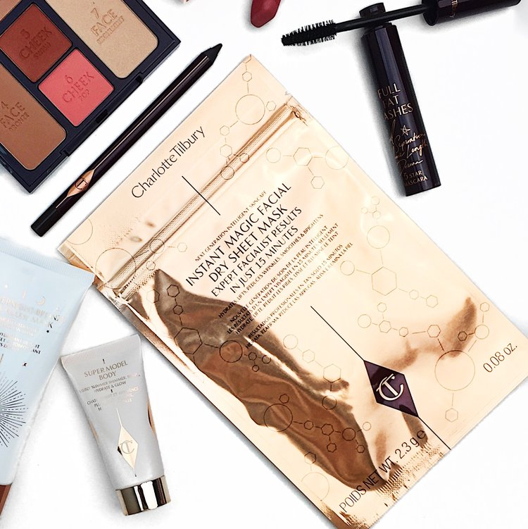Marisa Robinson Beauty Blogger Ace Your Base Face Masks Charlotte Tilbury Instant Dry Sheet Mask