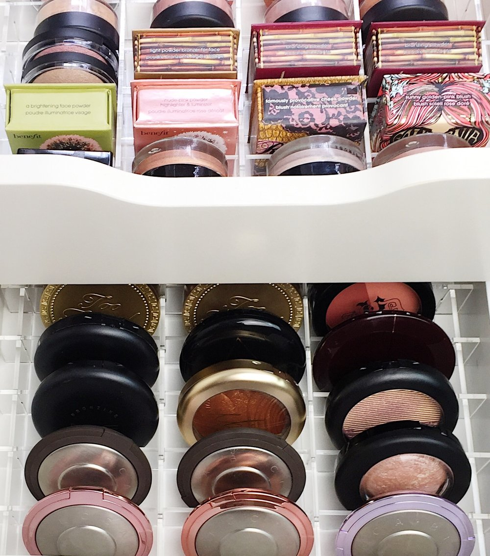 Marisa Robinson Beauty Blogger Makeup Storage IKEA Drawers and Vanity Collections Acrylic Organisers