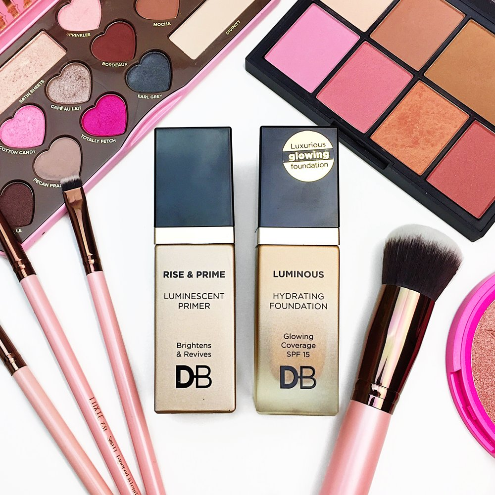 designer brands luminous hydrating foundation and rise prime luminescent primer review and first impressions - Db Designer Brands