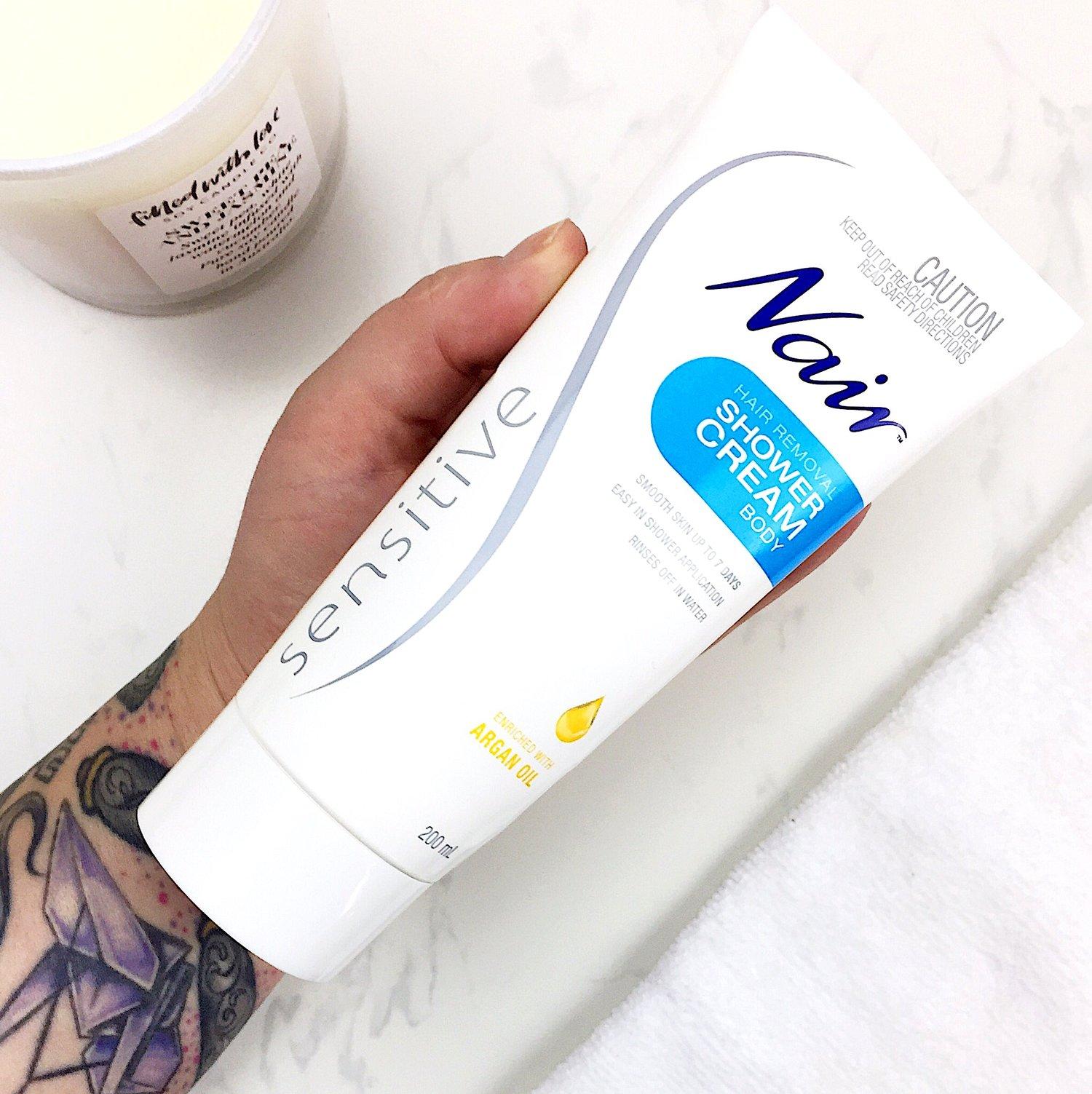 Nair Sensitive Hair Removal Shower Cream Review