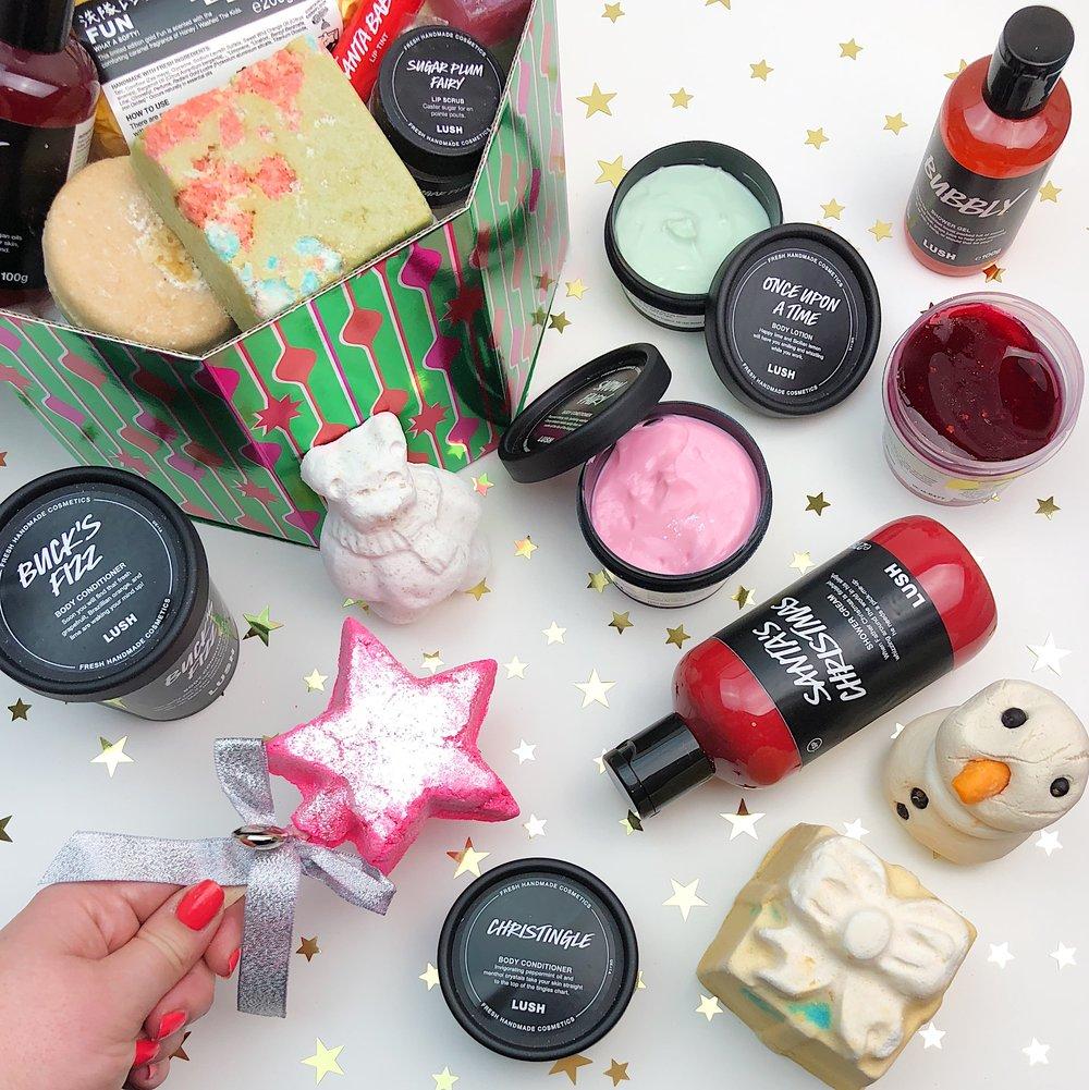 Marisa Robinson Beauty LUSH Christmas Collection