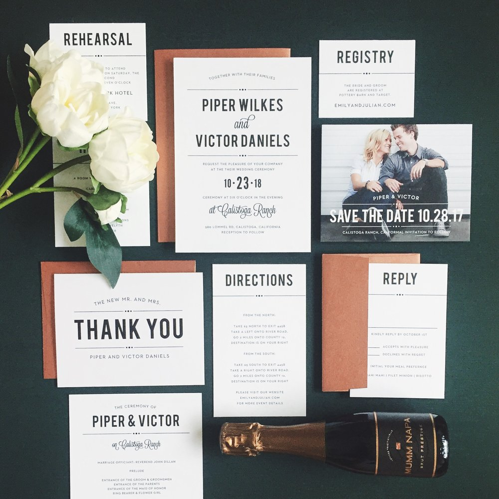 Basic Invite Custom Wedding Invitation