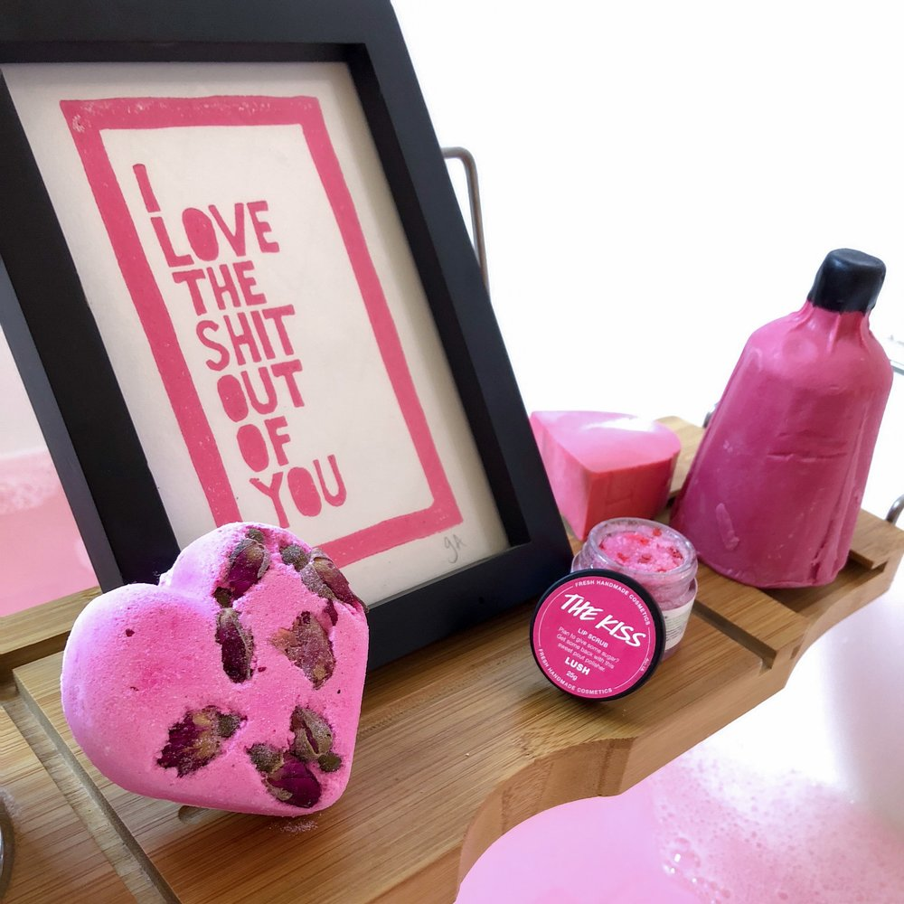 Marisa Robinson Beauty LUSH Valentine's Day Collection