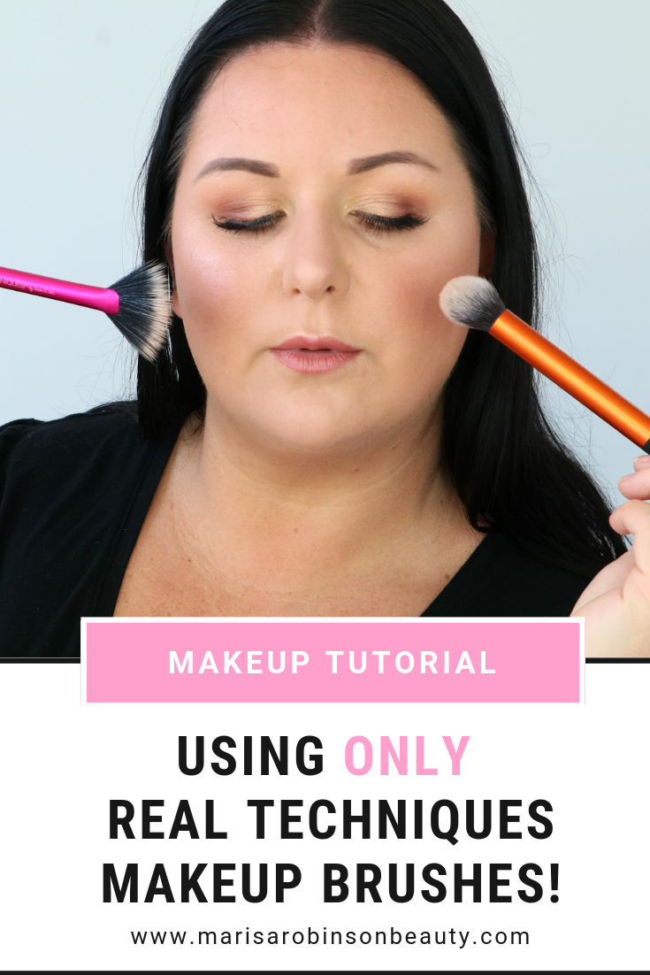 Real Techniques Makeup Brushes Tutorial - Marisa Robinson Beauty