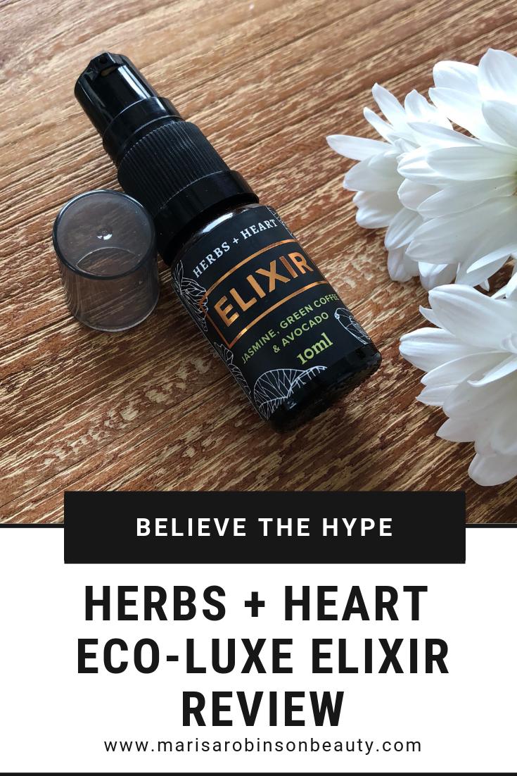 Herbs and Heart Elixir Review Marisa Robinson Beauty