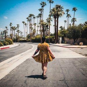 1738eb59068b Palm Springs Style  Showpo Deep Wide Ocean Dress In Mustard Floral