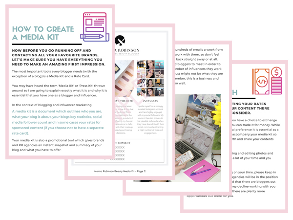 eBook Sample Pages - A Bloggers Guide To Working With Brands and Agencies