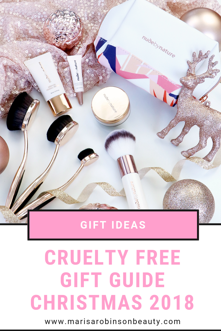 Cruelty Free Gift Guide 2018 Marisa Robinson Beauty