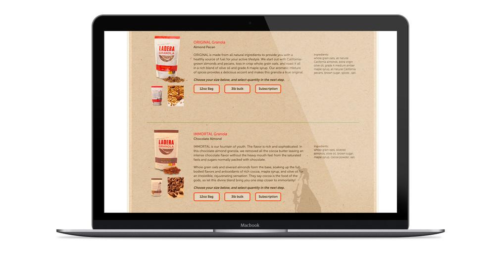 Online Shop Ladera Granola