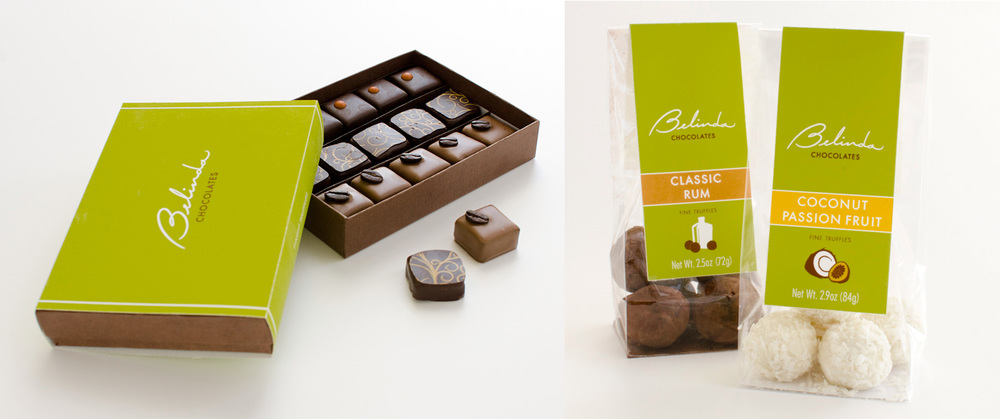 Chocolate box and bag package design
