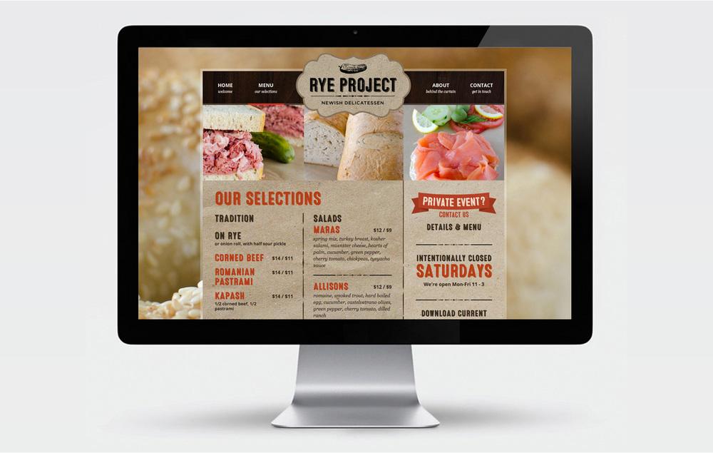 Rye Project online menu