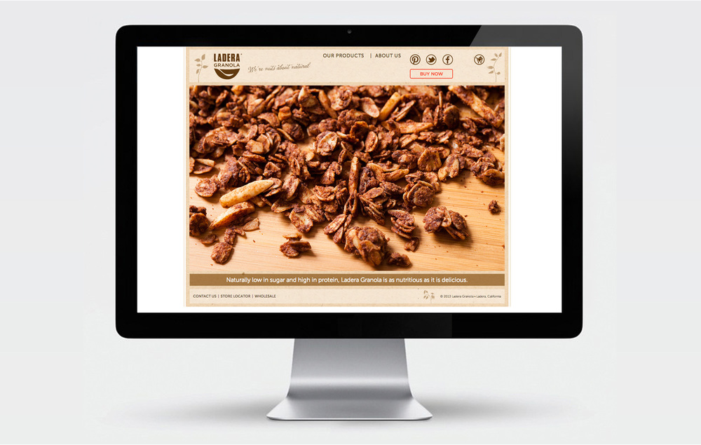 Ladera Granola website design