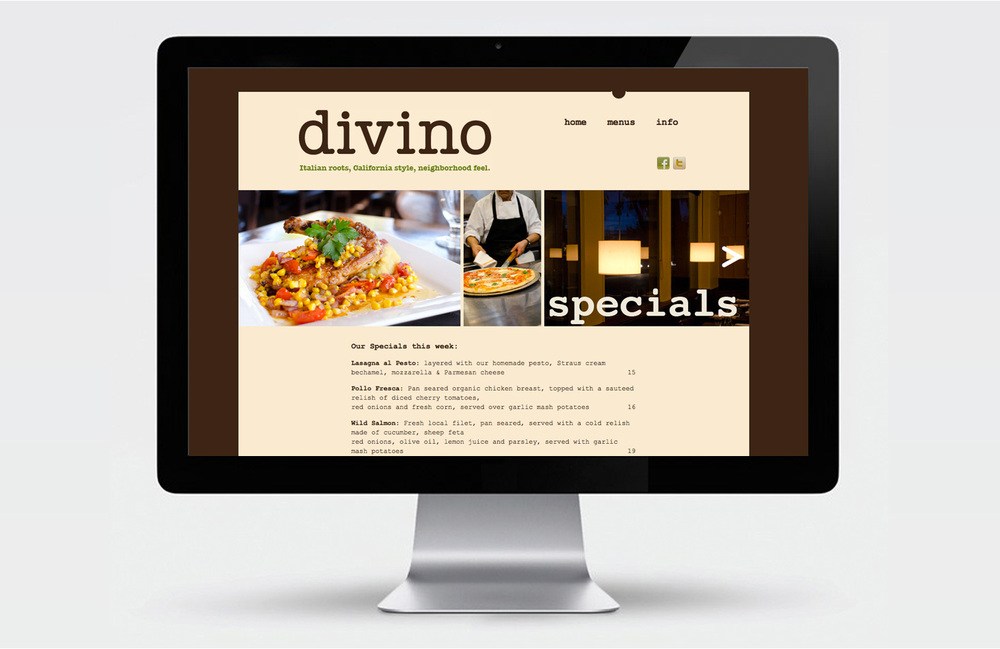 Divino web site design