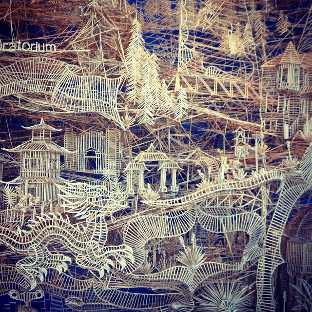 The great toothpick installation at the Exploratorium. Follow me on  Instagram  for occasional gems from around the Bay Area and beyond