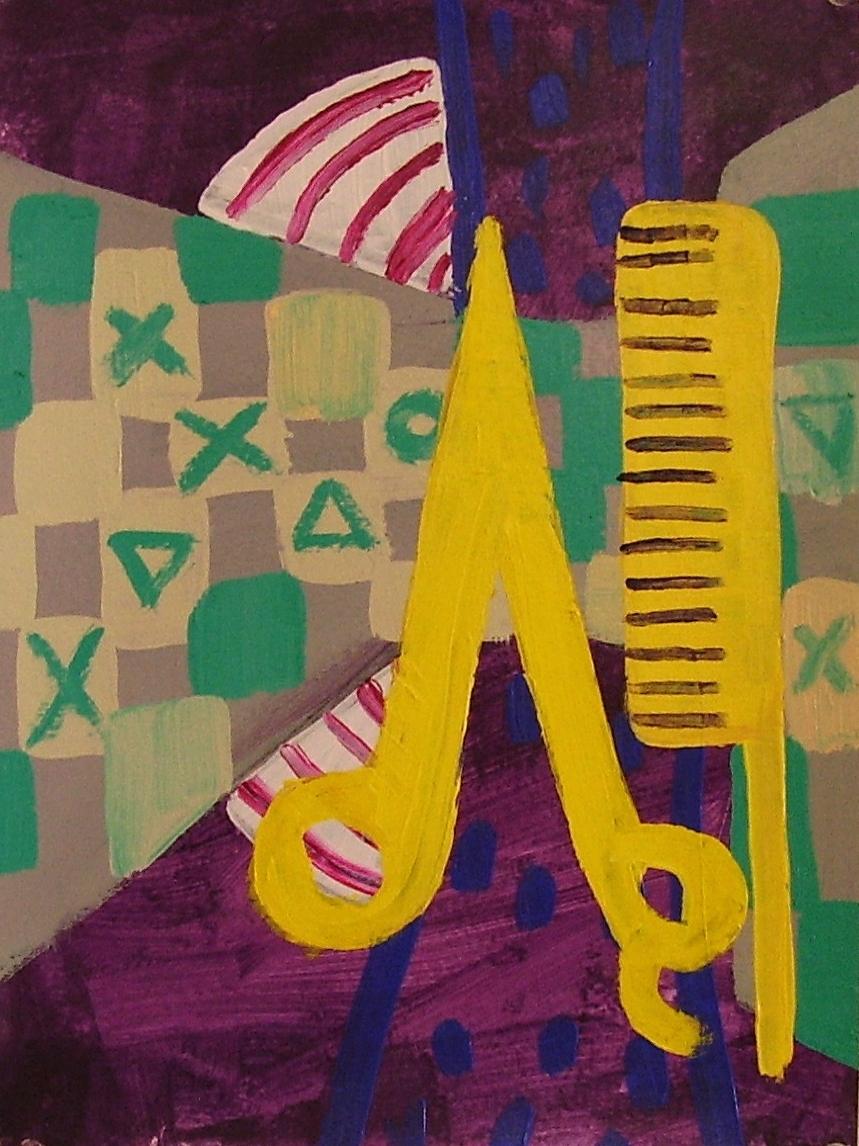"12""x9""  Acrylic on paper"