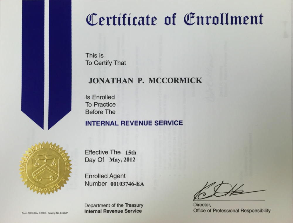 An enrolled agent (EA) is a federally-authorized tax practitioner who has technical expertise in the field of taxation and who is empowered by the U.S. Department of the Treasury to represent taxpayers before all administrative levels—examination, collection, and appeals—of the Internal Revenue Service.