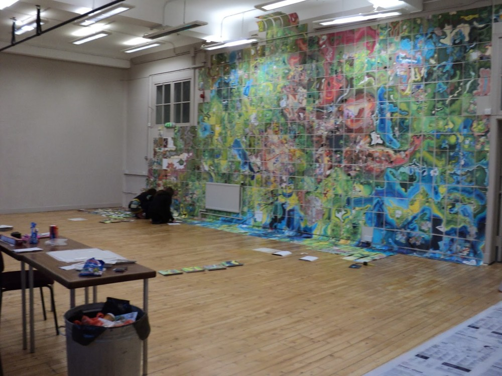 Installation in progress, Summerhall, Edinburgh, last year.