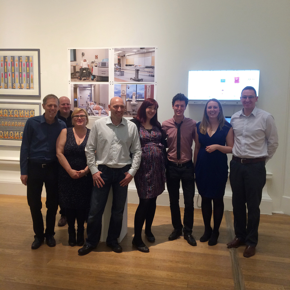 Alicia Bruce, Michael Prince (film maker) and the staff of Scottish Centre for Simulation and Human Factors at RSA Opening, April 2015