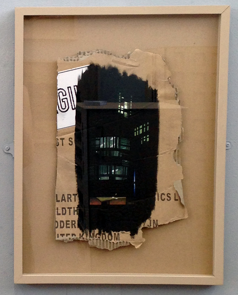 One of set of three framed paintings from London psychogeographical dérive. All oil on cardboard, 2015, Alana Brown.