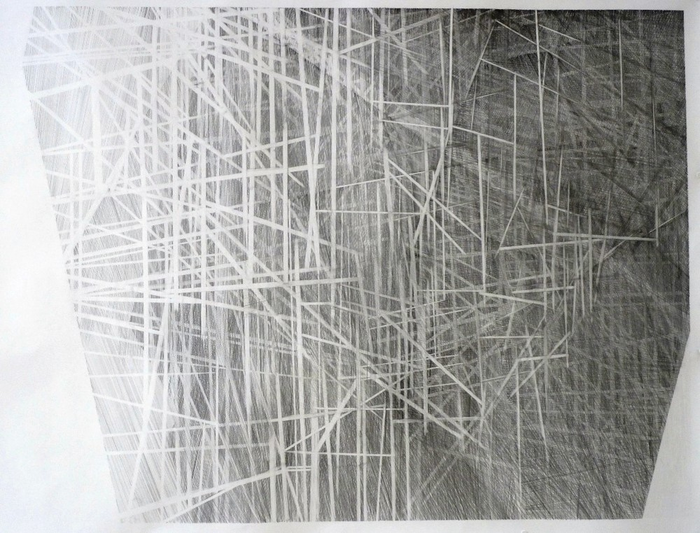 Freep: isometric (2014) pencil on paper, 148cm x 194cm
