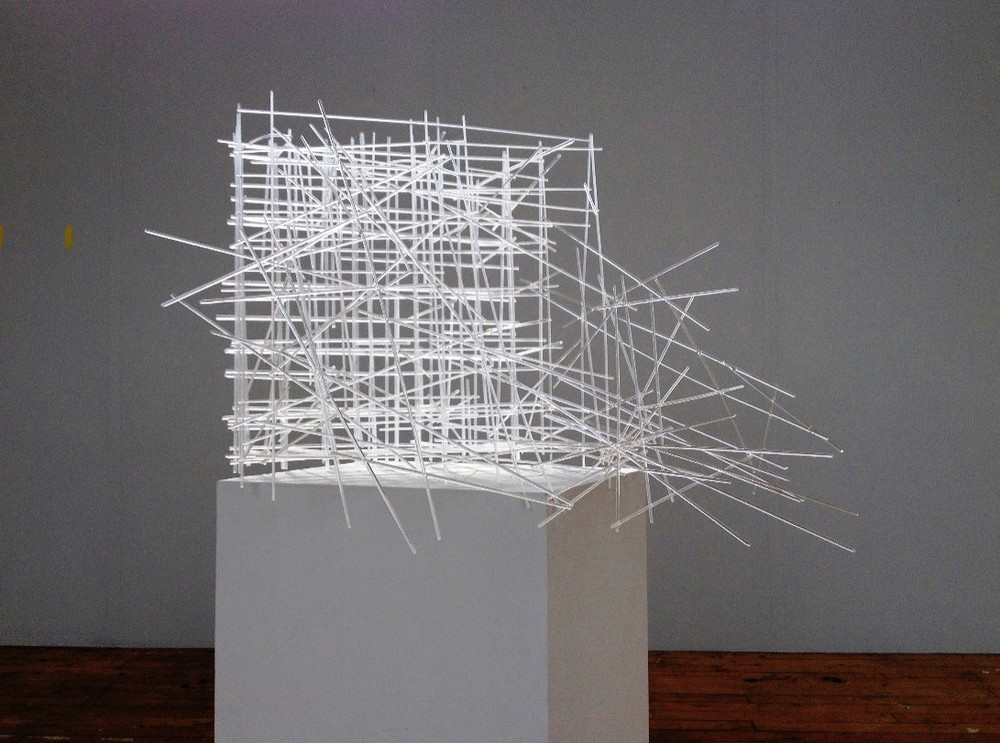 Freep (2014) acrylic rods and acrylic filament, 70cm x 80cm x 90cm